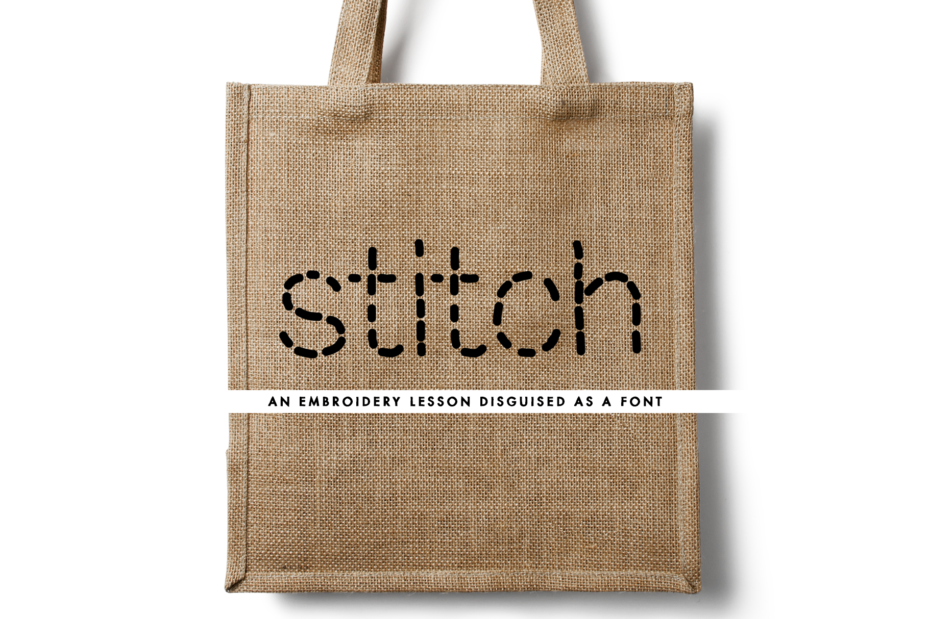 Stitch - an embroidery lesson disguised as a font example image 1