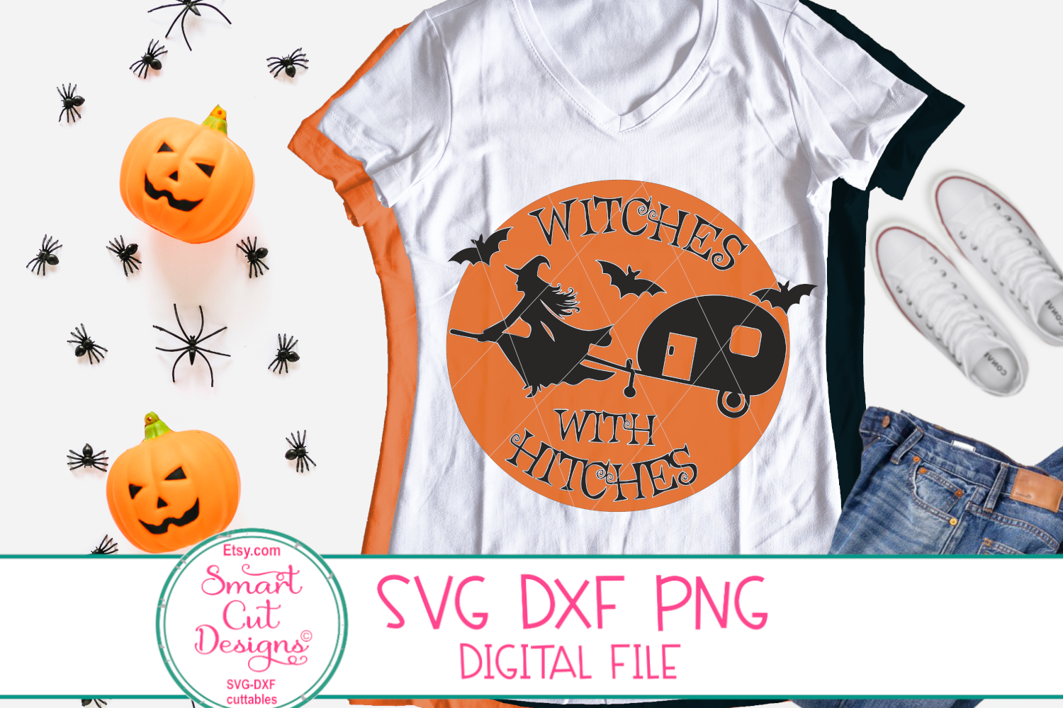 Witches With Hitches SVG, Adult Halloween SVG, Camper, Sign example image 1