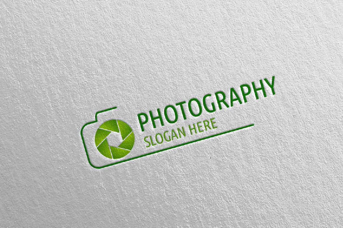 Abstract Camera Photography Logo 3 example image 2