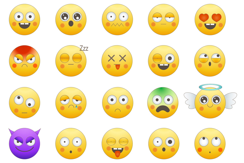 Emoji faces example image 2