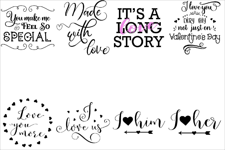 Love BUNDLE - svg cut files example image 3
