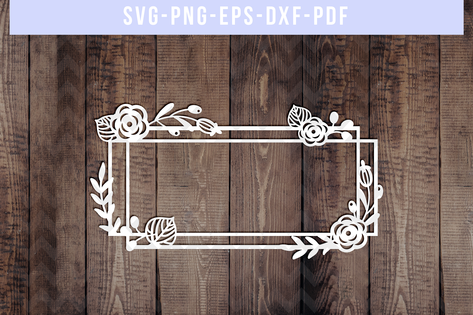 Bundle Of 9 Geometric Frame Papercut Templates, SVG, PDF DXF example image 10