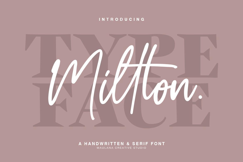Millton - Font Duo example image 1