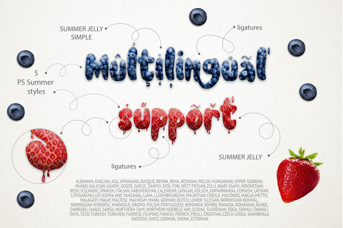 Summer Jelly font duo + PS Styles. example image 9