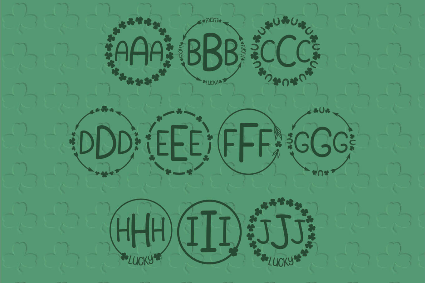 Shamrock Parade - A Lucky Monogram Font example image 3