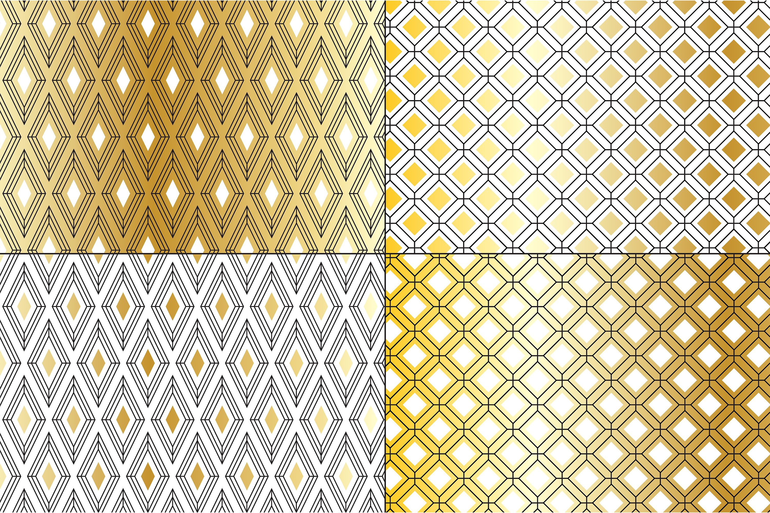 Gold Deco Patterns example image 2