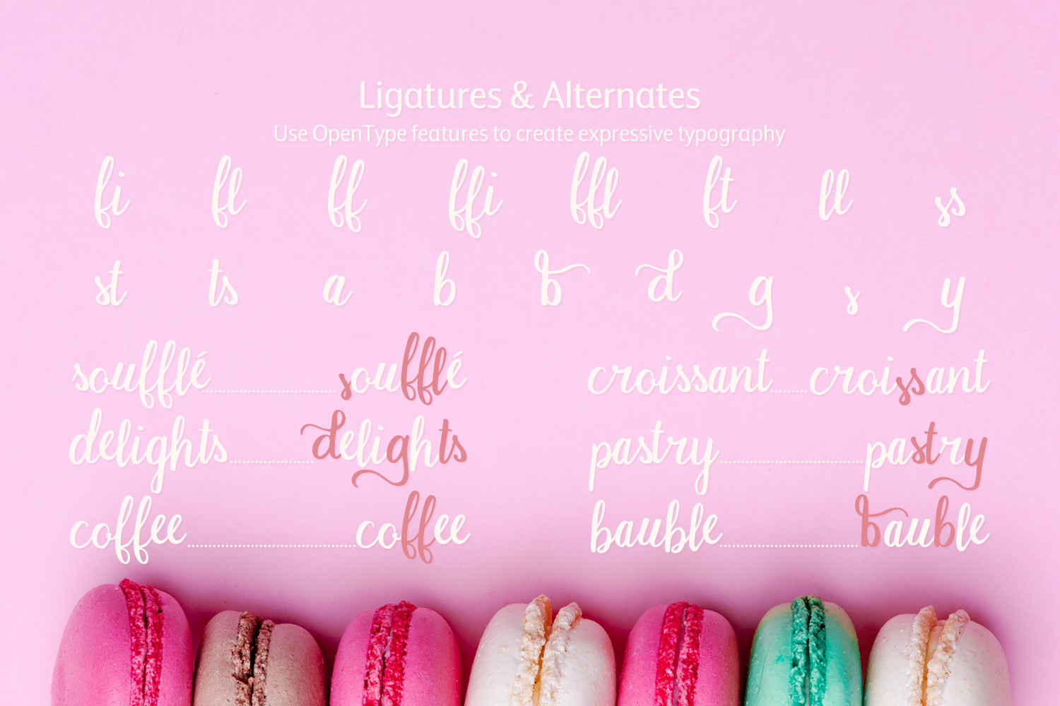 Macaron Moment - a sweet hand drawn script font example image 3
