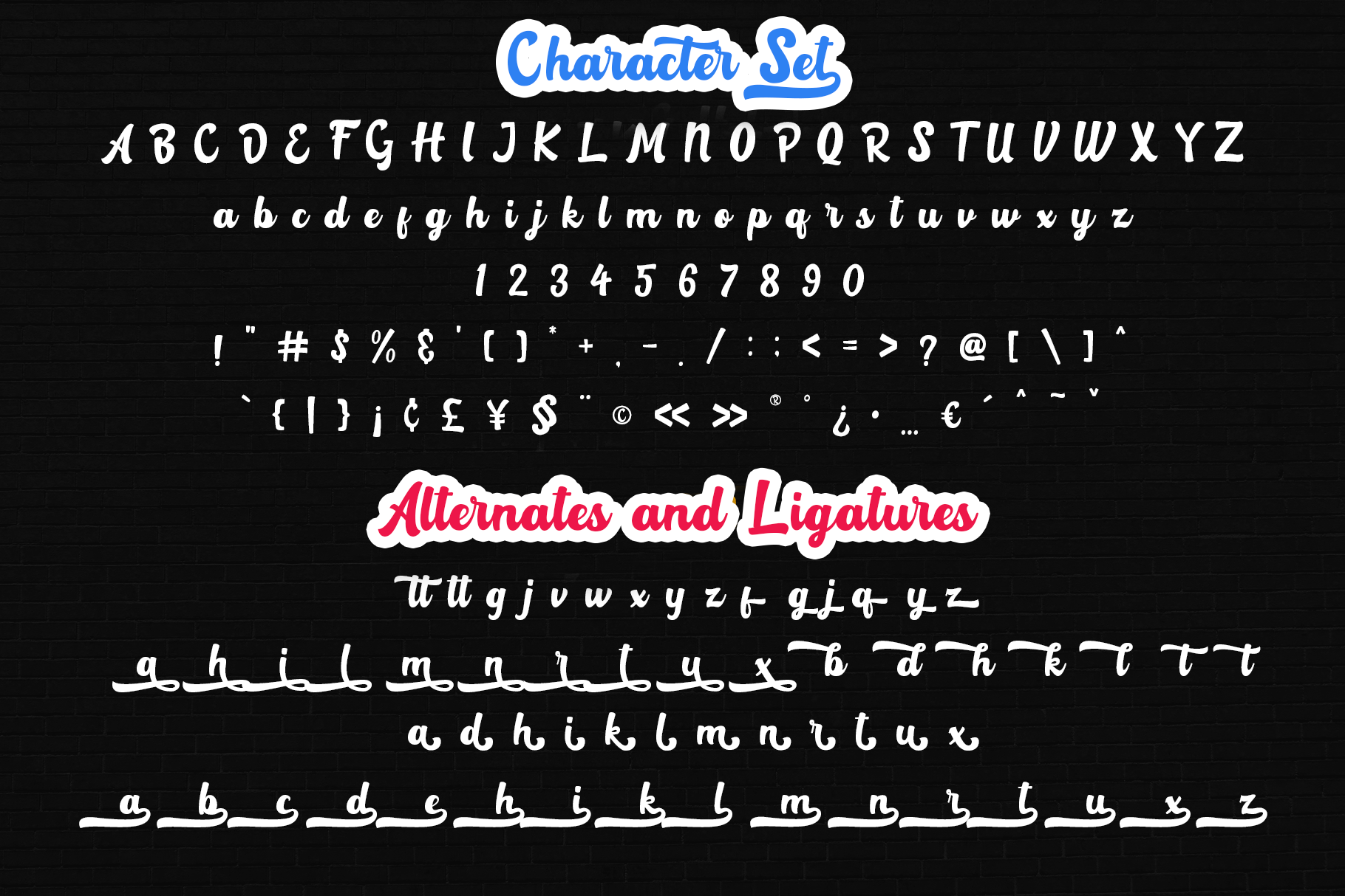 Rotterin Script - Layered Font example image 8