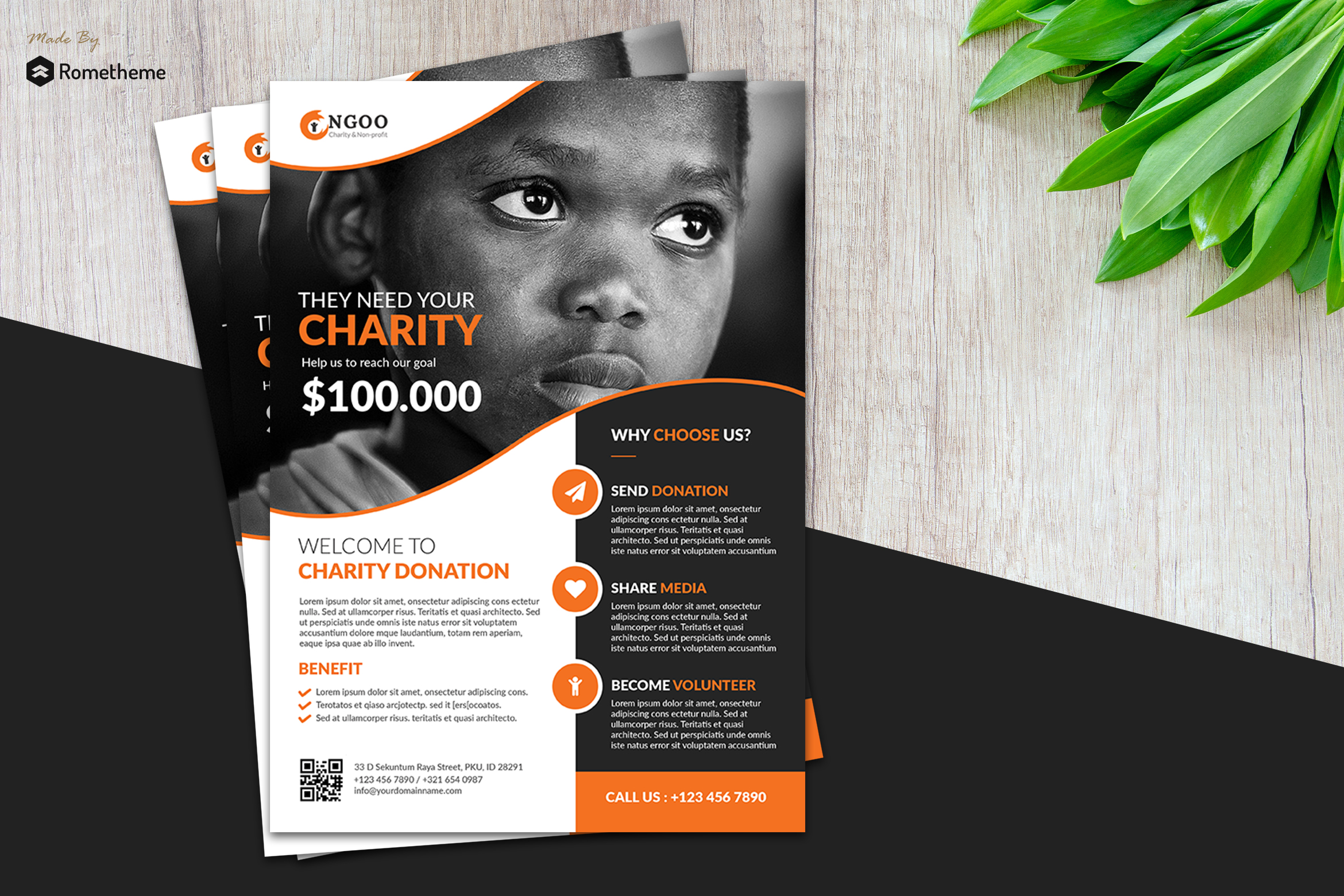 Charity Flyer vol. 01 example image 1