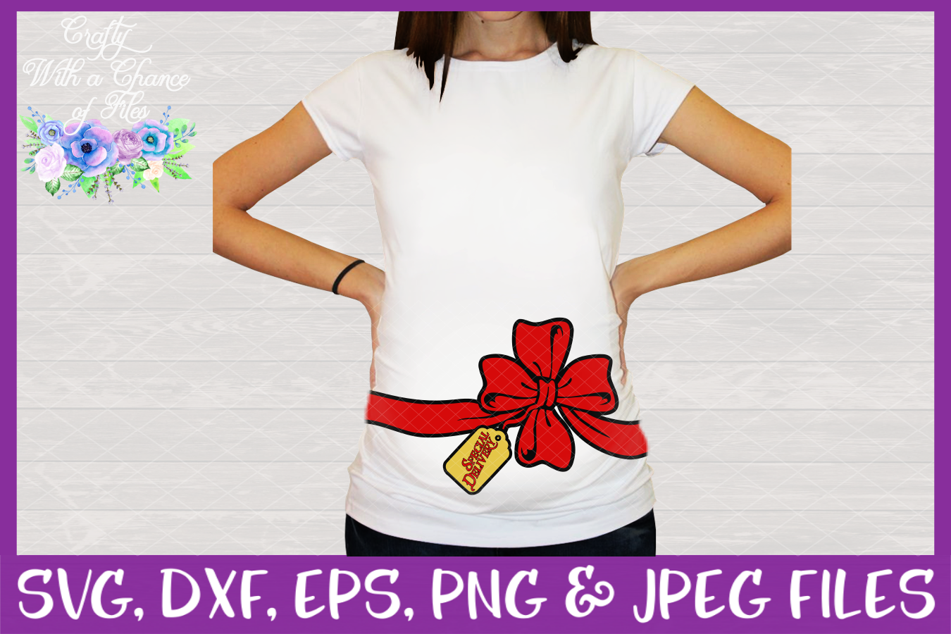 Christmas Pregnancy SVGs - Maternity Designs example image 3