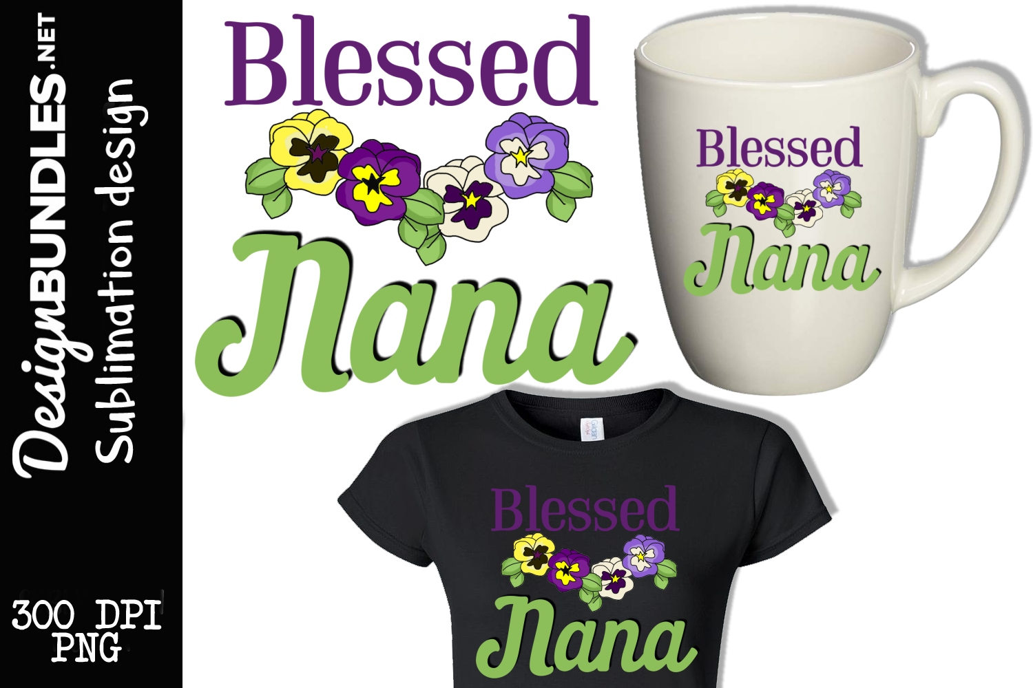 Blessed Nana Sublimation Design example image 1