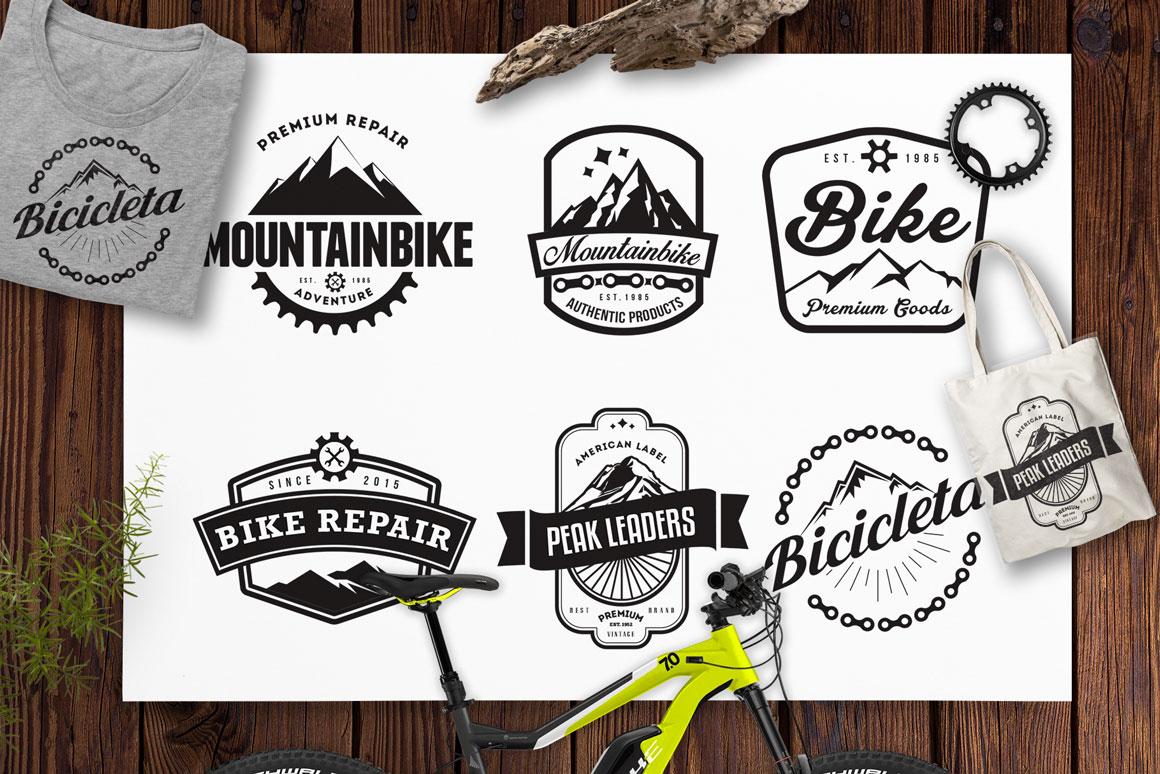 Mountain Bike Retro Logo Badges / Mountain Logo / Bike Logo example image 1
