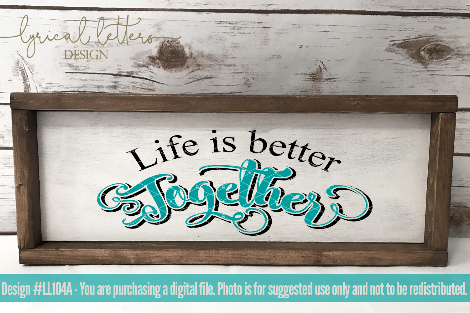 Life Is Better Together Wedding Love SVG Cut File LL104A example image 2