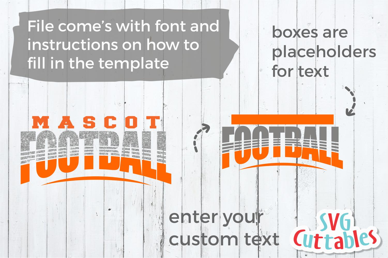 Football Template 0040 | Football svg cut file example image 2