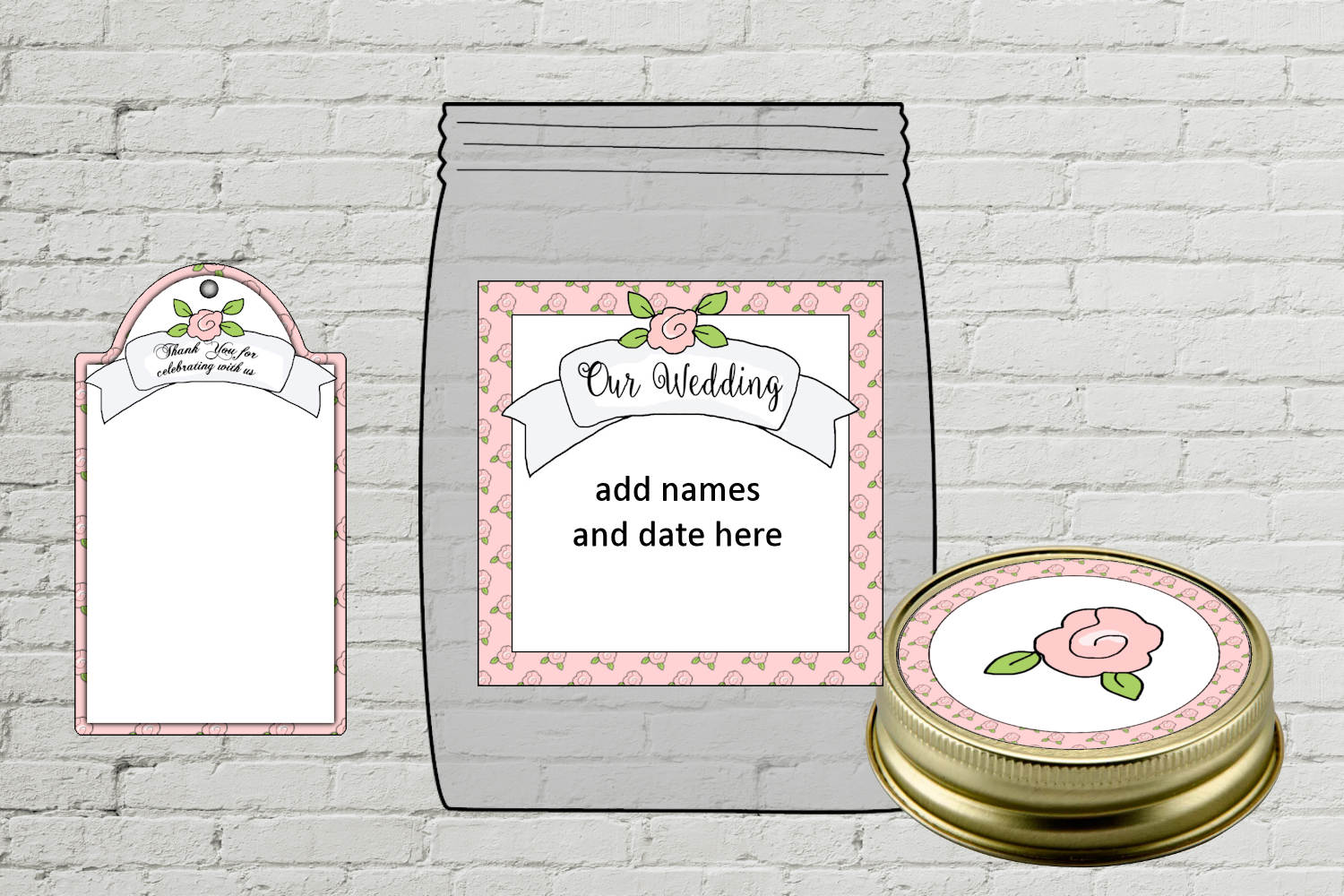 Wedding Cookie Favor Kit with Labels and Tag example image 2