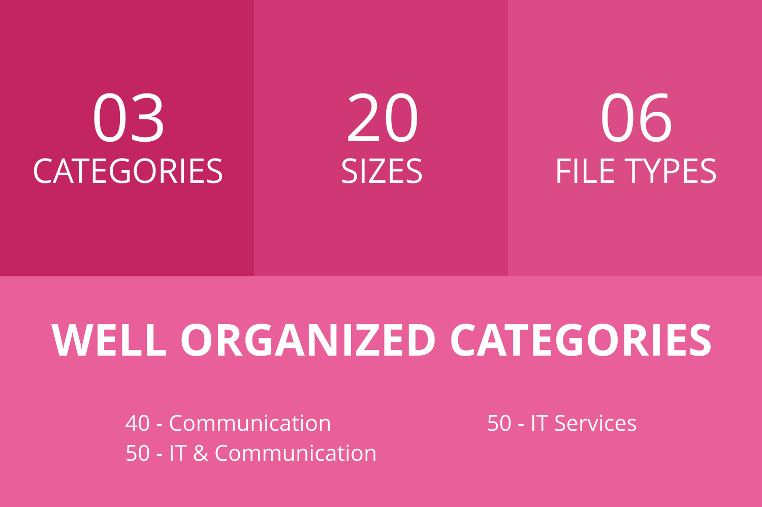 140 IT & Communication Glyph Icons example image 3