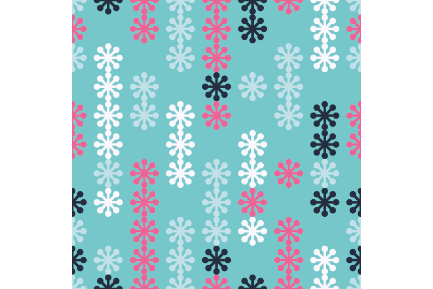 Set of 12 seamless backgrounds with decorative snowflakes.  example image 11