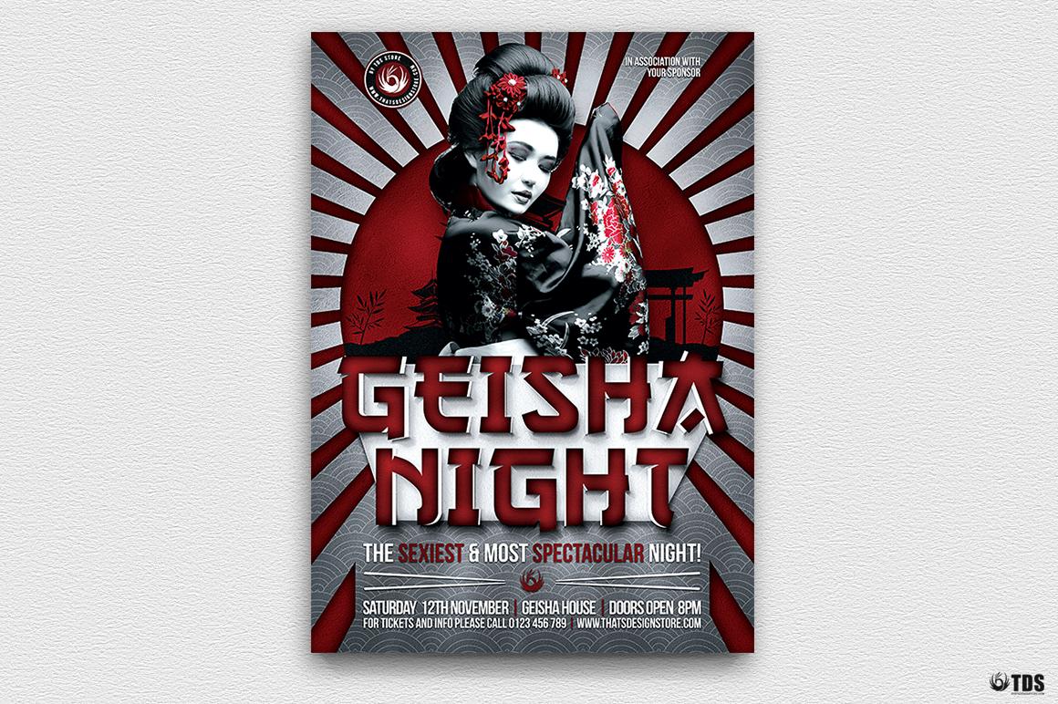 Geisha Party Flyer Bundle V2 example image 4