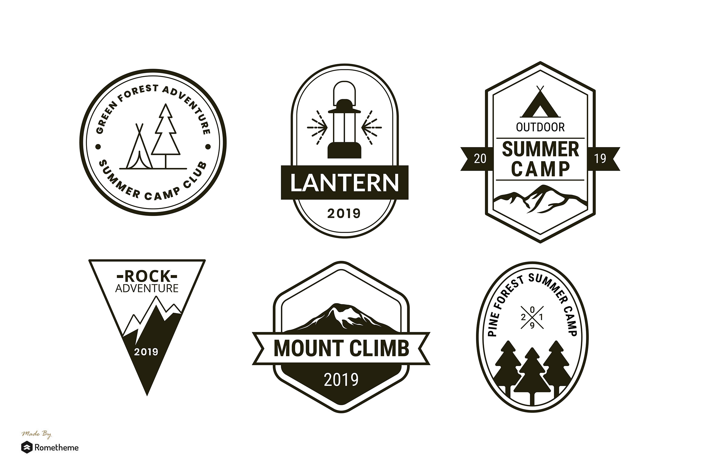 Set of Camping Logo Badge Template RB example image 1