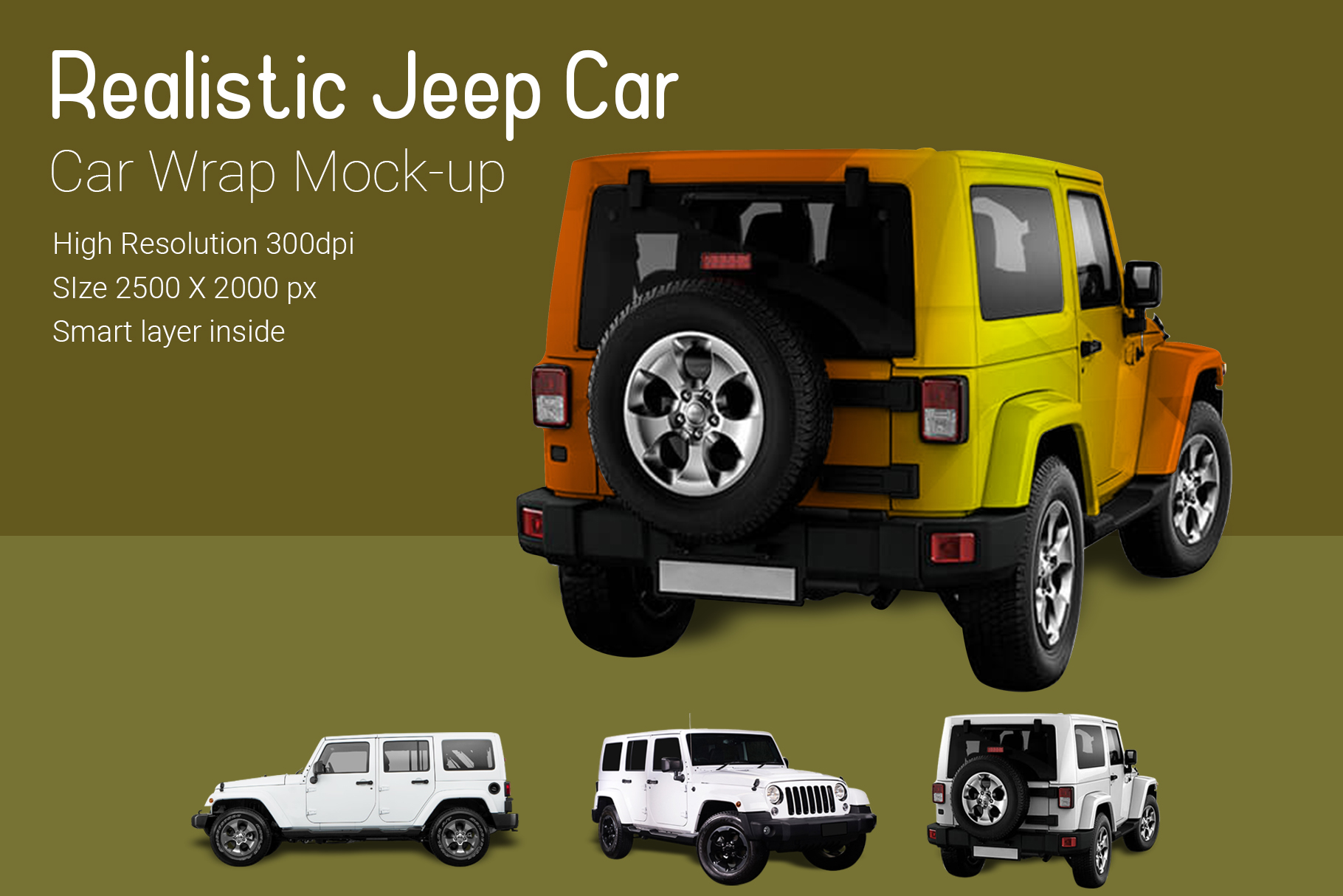 Jeep Car Mock-Up example image 3
