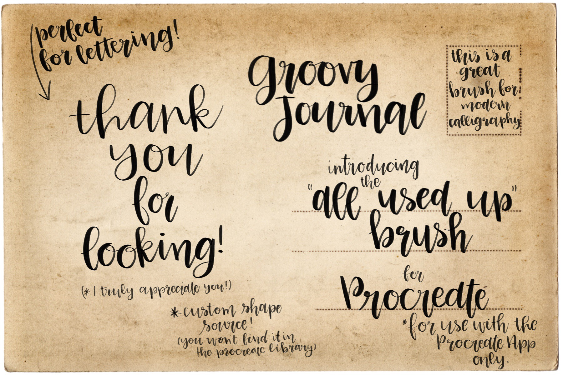 Procreate Hand Lettering Brush example image 3