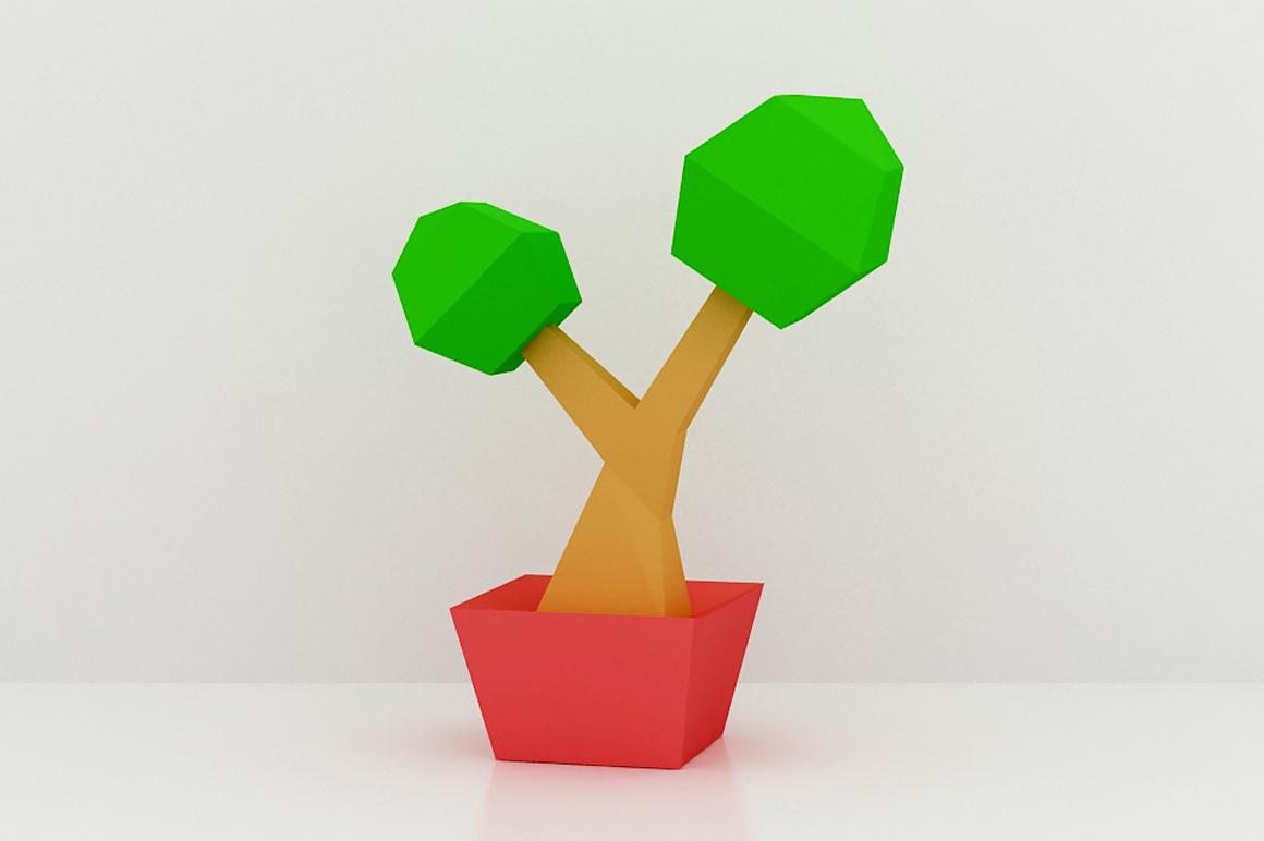 DIY Bonsai Tree - 3d papercraft example image 2