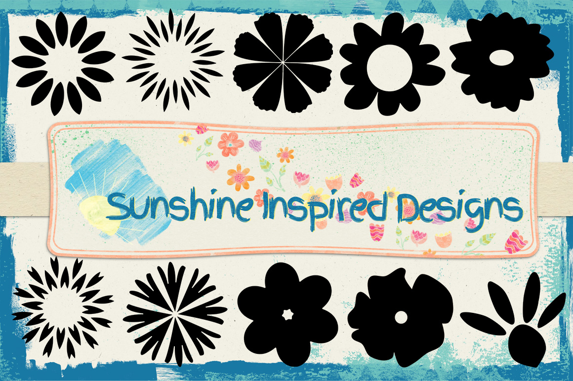Flower Shapes and Brushes example image 1
