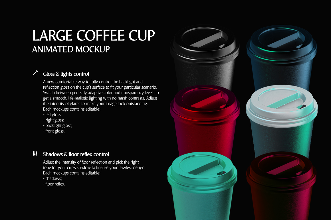 Large Coffee Cup Animated Mockup example image 7