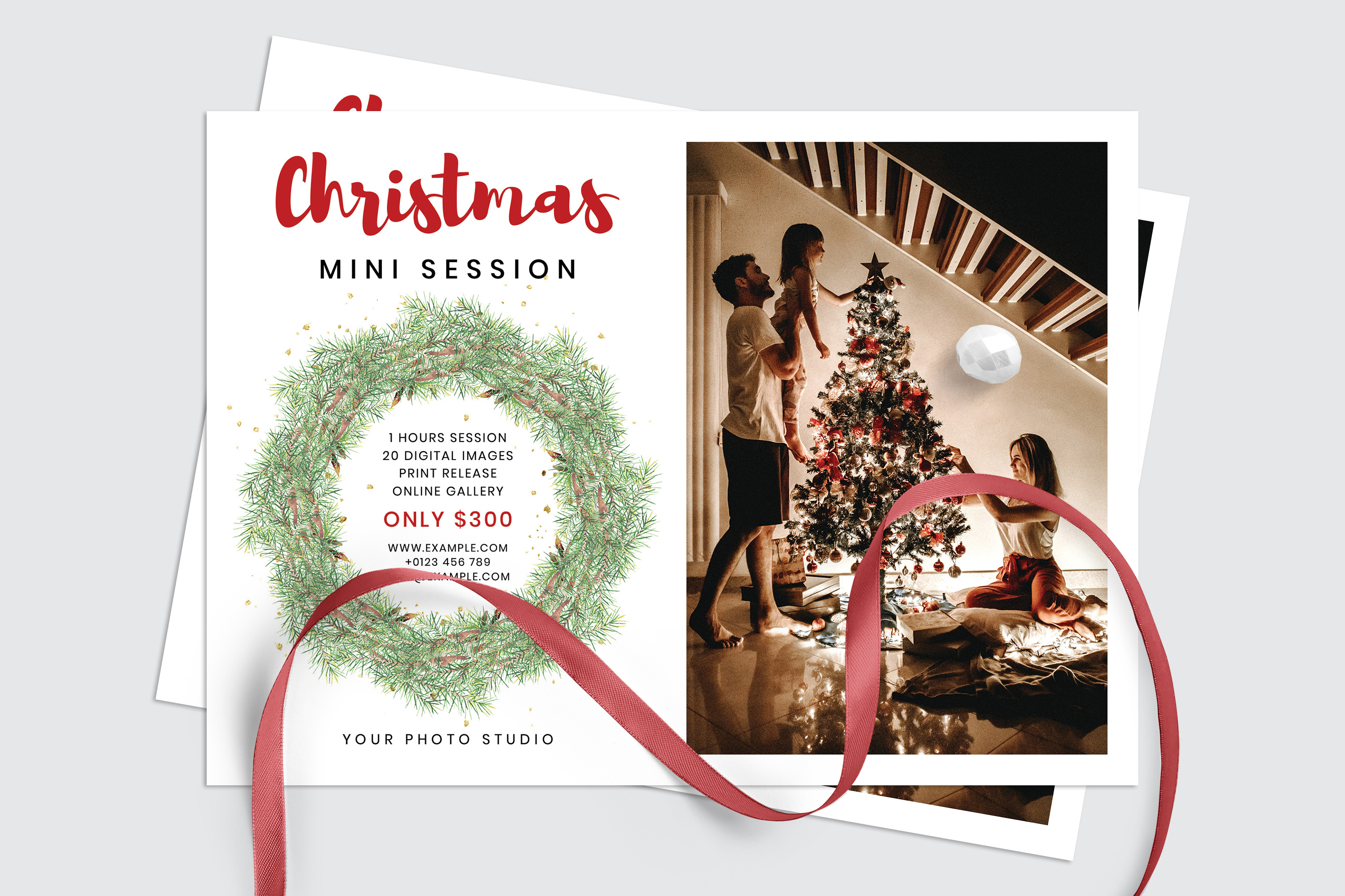 Christmas Mini Session Template example image 3