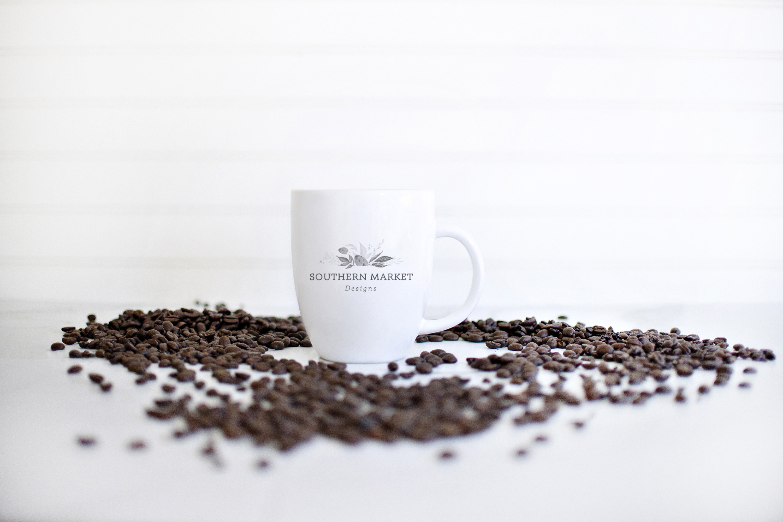 Coffee Cup Mug Digital Mock Up Styled Photo example image 1