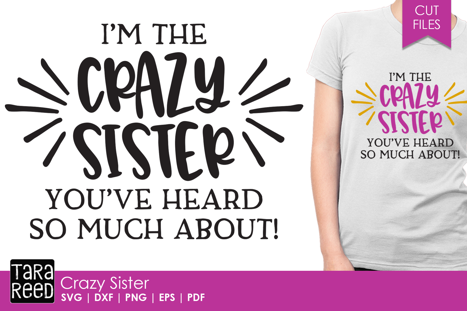 Crazy Sister - Family SVG and Cut Files for Crafters example image 1