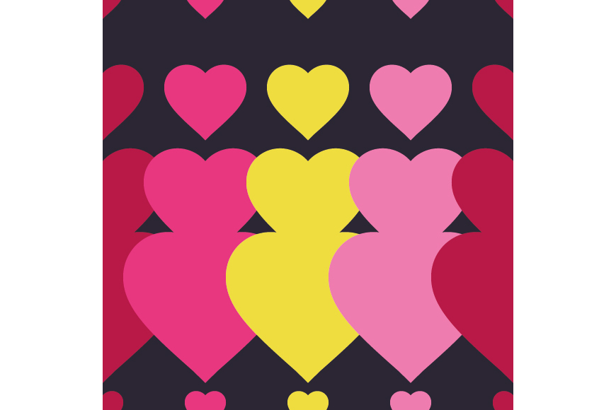 Set of 12 backgrounds with Hearts on Valentine's Day. example image 6