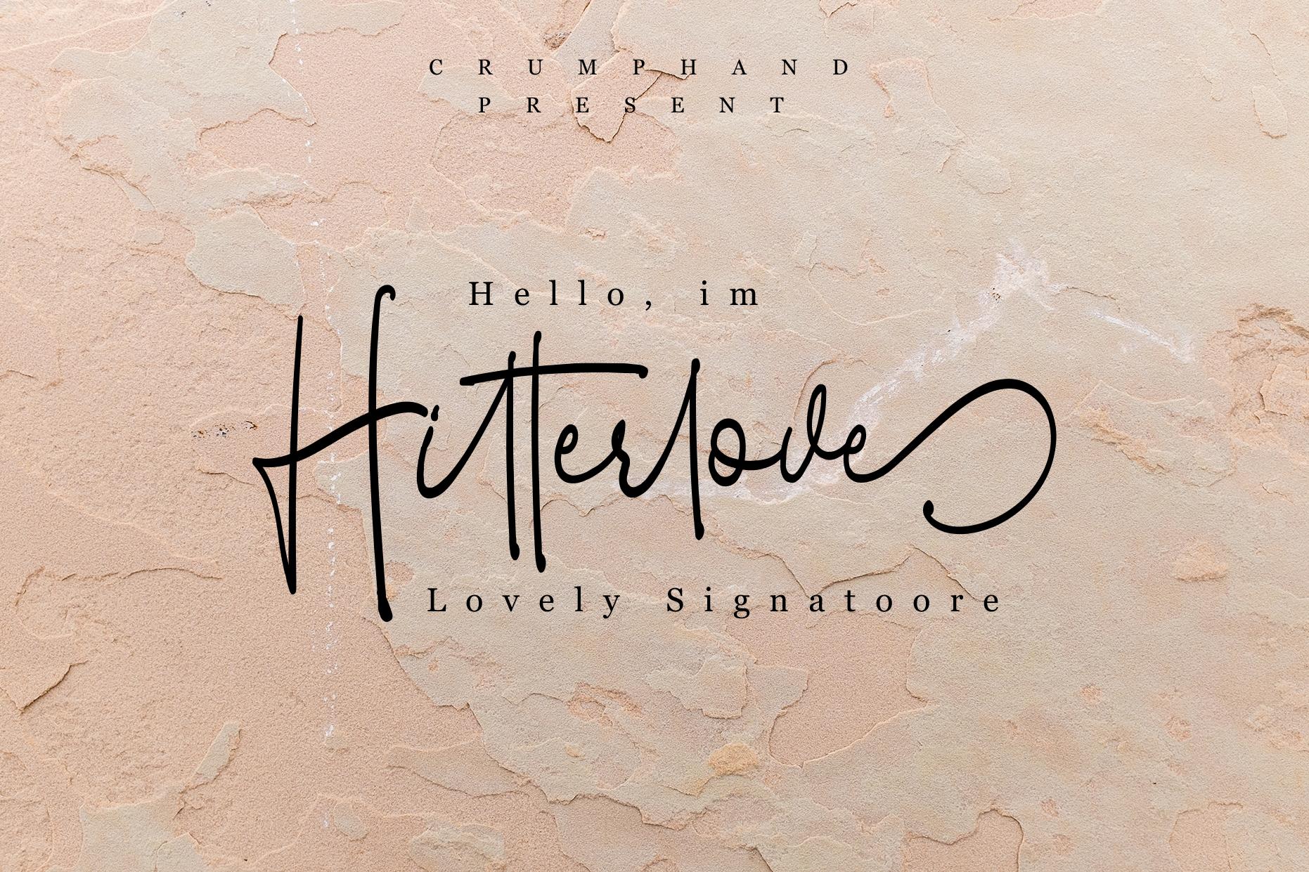 Hitterlove | Lovely Script example image 1