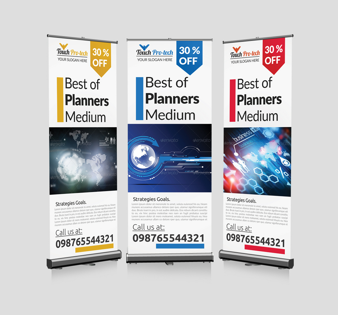 Business Technology Roll Up Banners example image 1