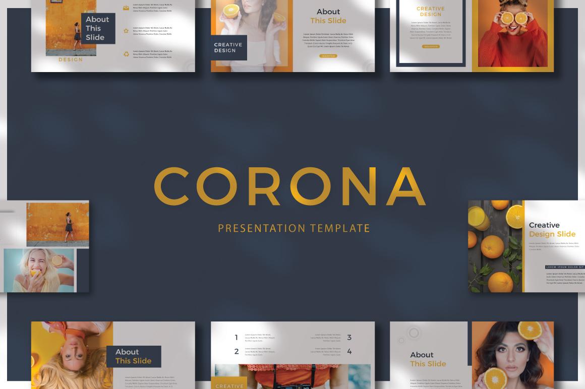 CORONA - Google Slides example image 1
