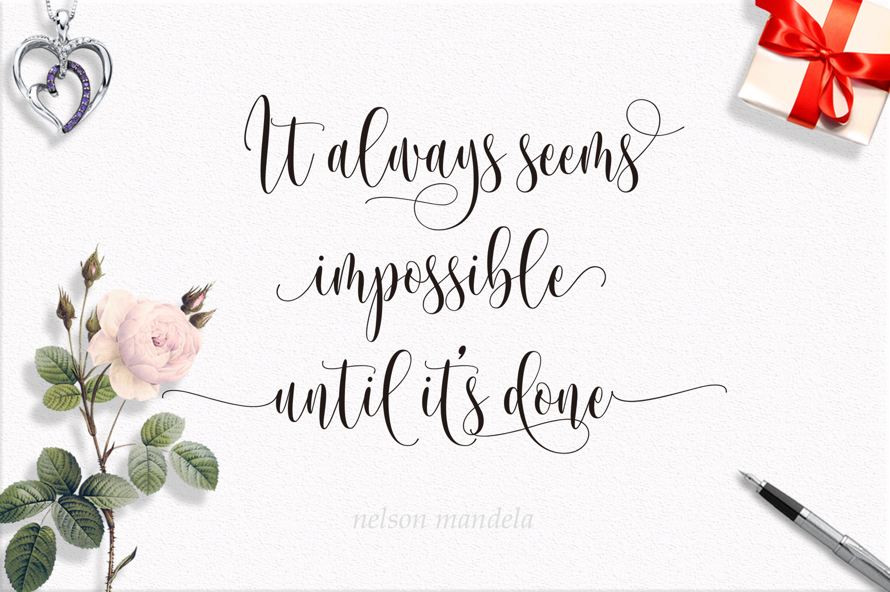 Someday Script Font example image 9