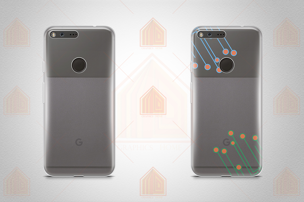 Google Pixel UV TPU Case Mockup Back View example image 3