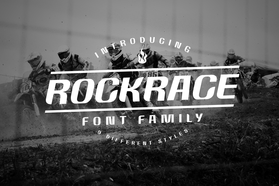 Rockrace Font Family example image 1