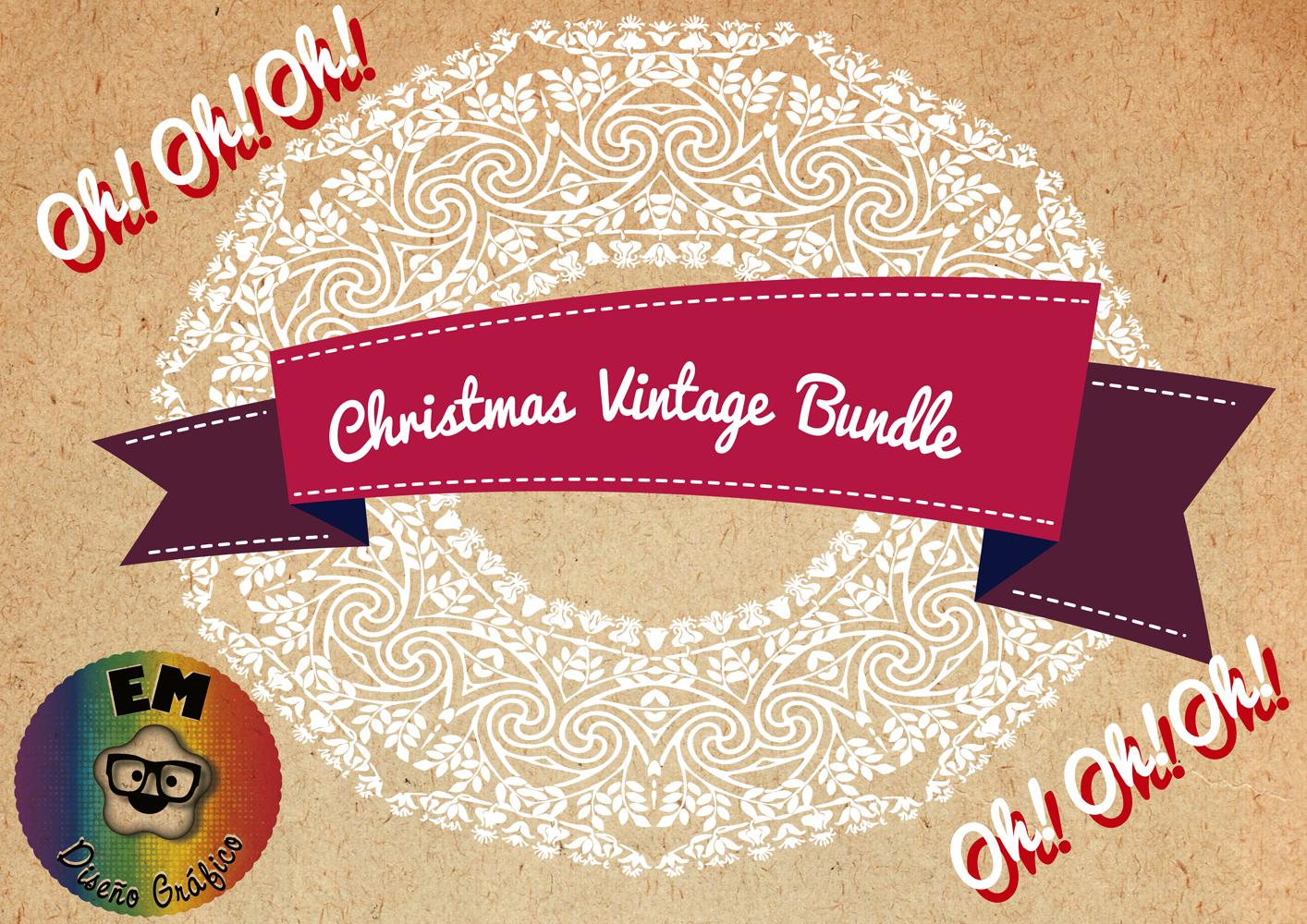 Christmas Vintage Bundle example image 2