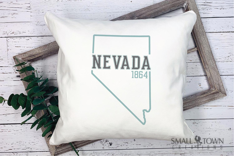 Nevada, The Silver State - slogan, Logo, PRINT, CUT & DESIGN example image 9