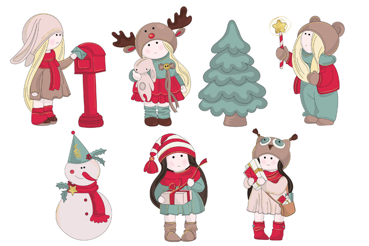 BEST WISHES Christmas Vector Illustration Pattern Animation example image 11