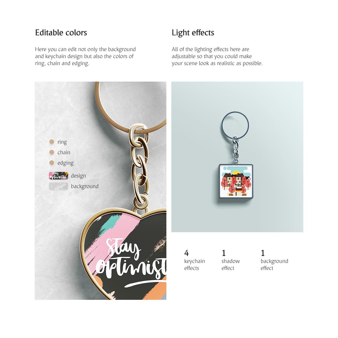 Keychain Mockups Set example image 3