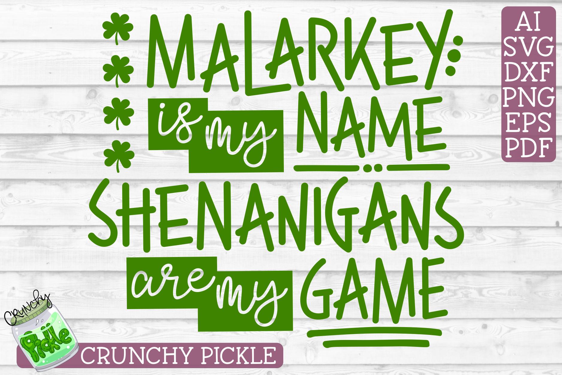 Malarkey Name, Shenanigans Game St Patick's Day SVG Cut File example image 2
