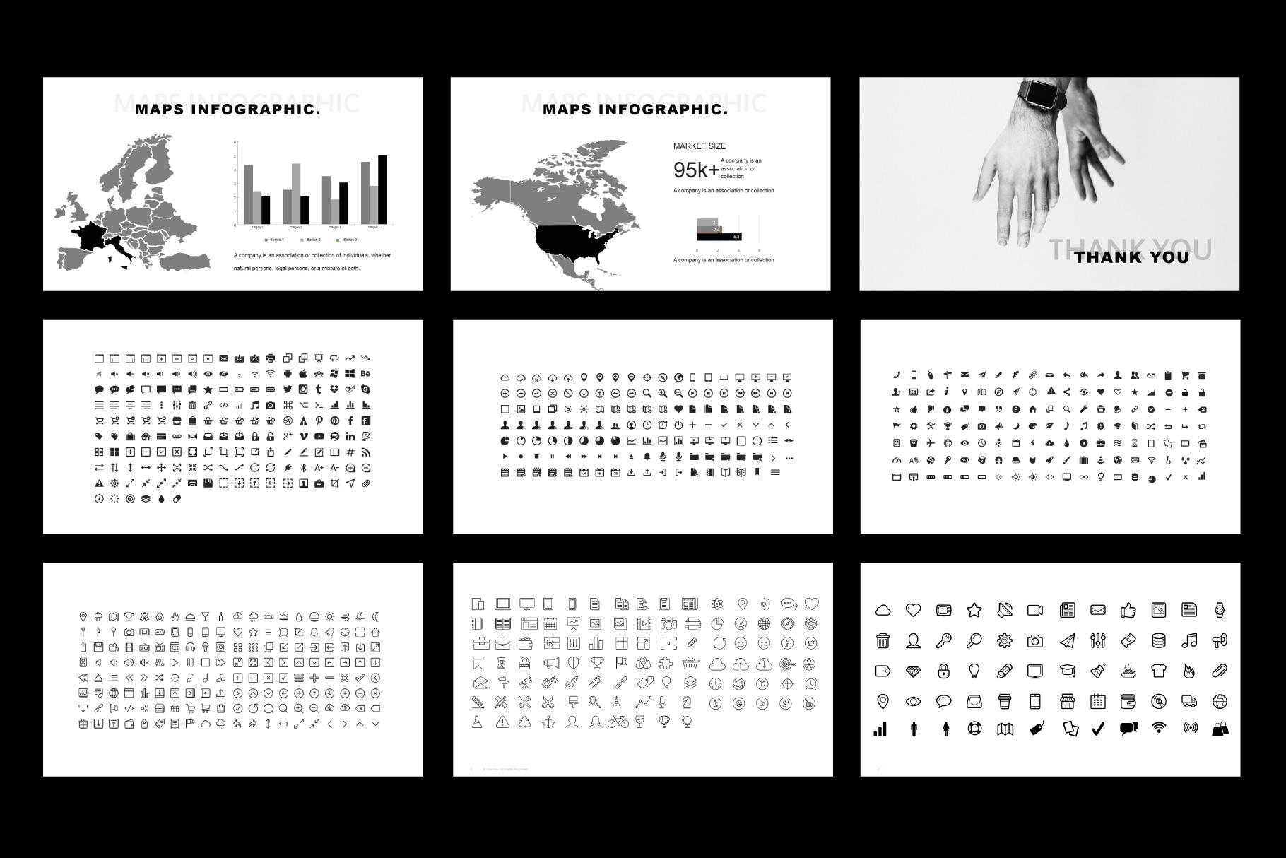 Tuxedo Minimal PowerPoint Templates example image 10