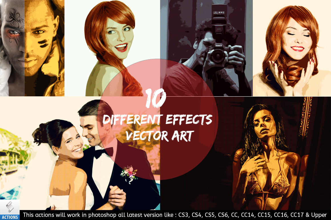 Vector Art - Photoshop Action example image 4