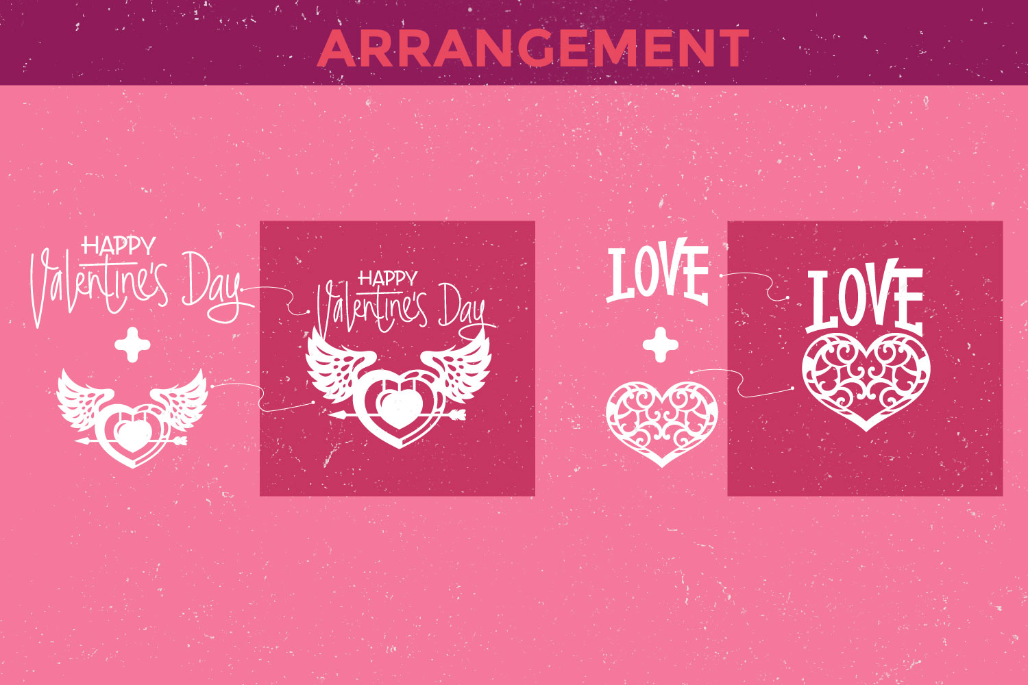 Valentine's Day Love Signs Cutting File SVG example image 2