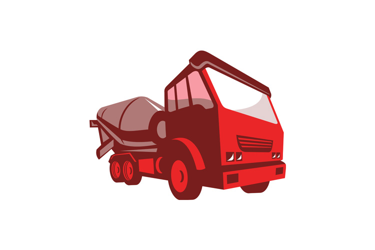 cement truck lorry retro style example image 1