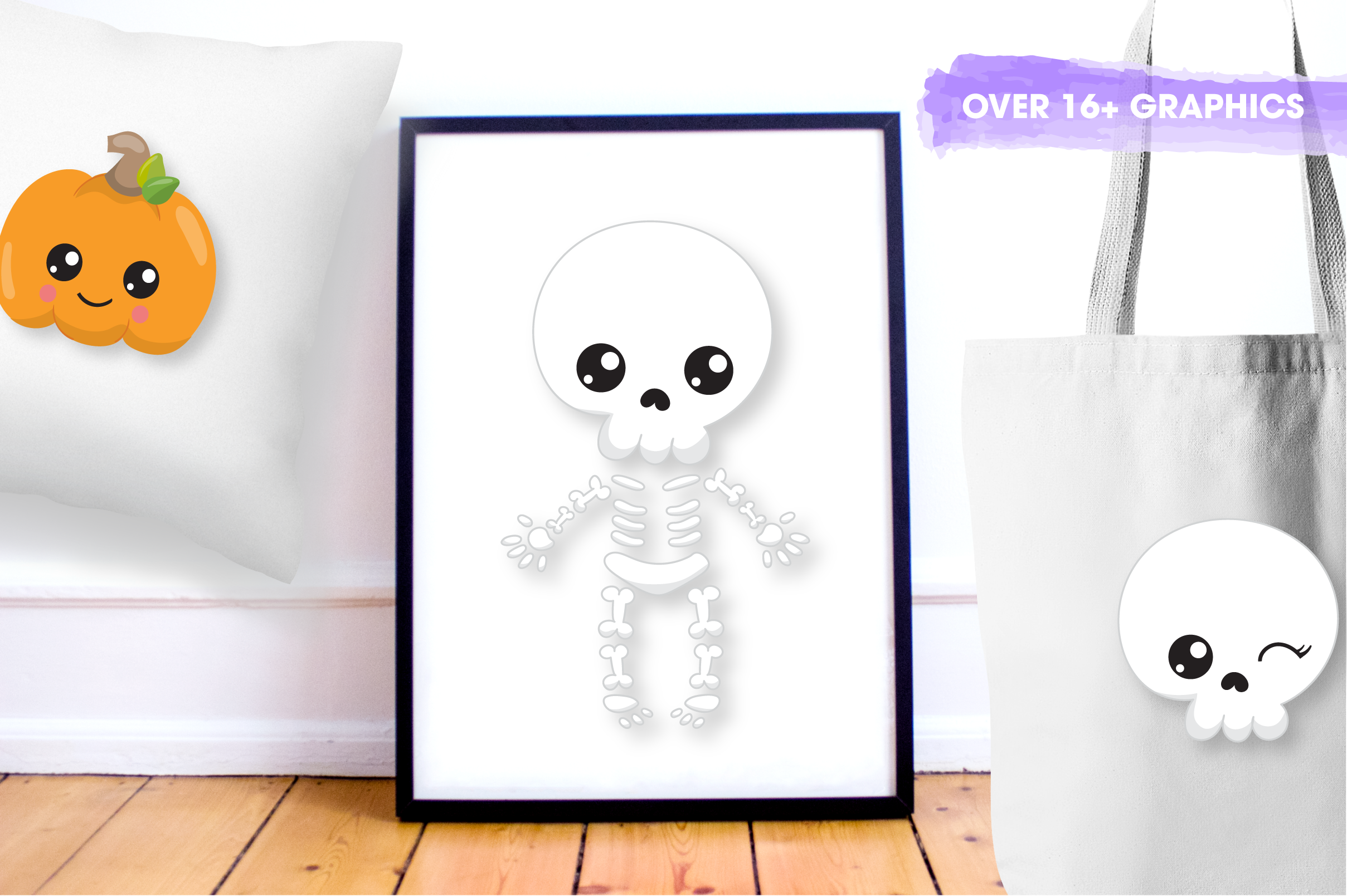 Halloween skulls graphics and illustrations example image 5