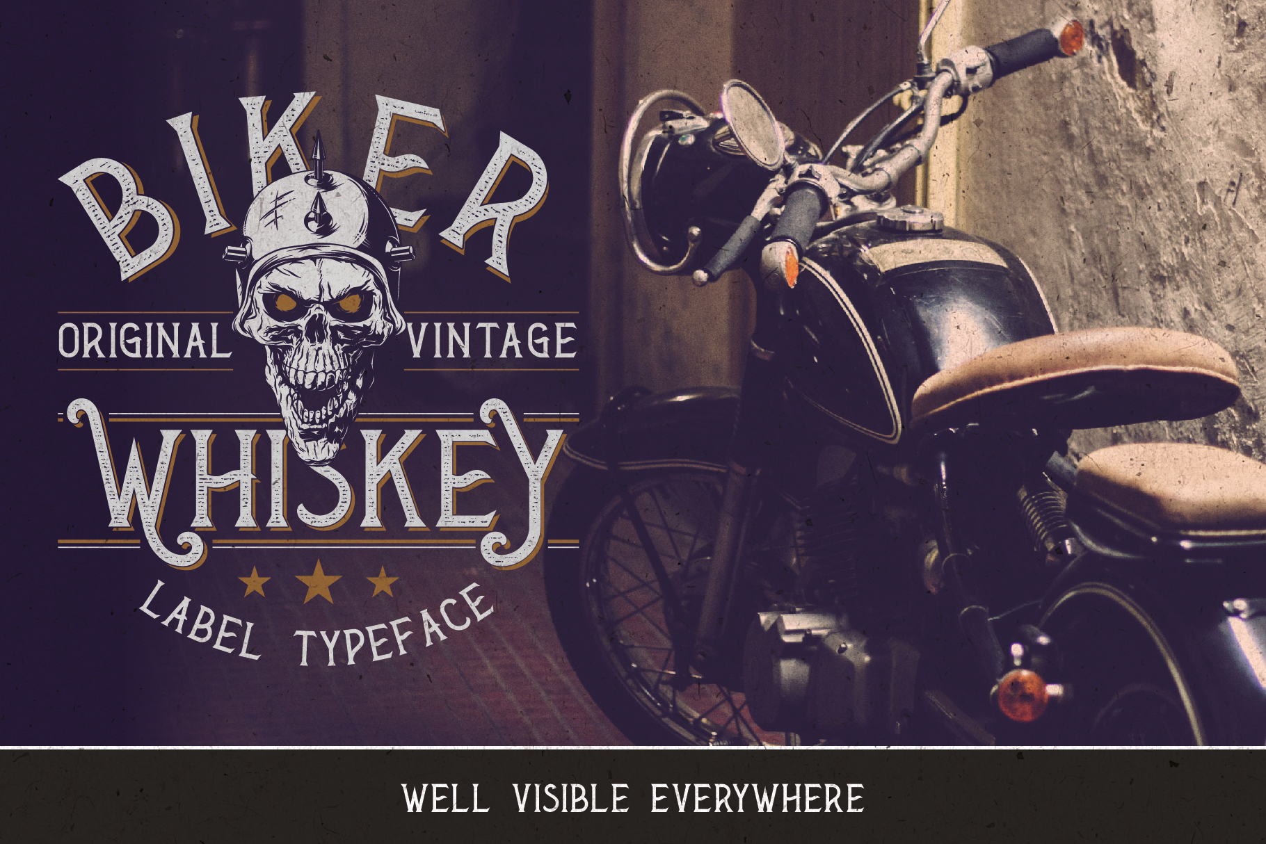 Biker Whiskey Layered Font example image 5