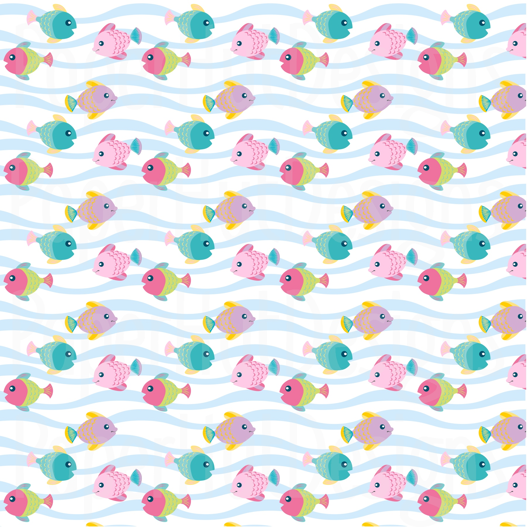 Girls Sea Animal Clipart and Digital Papers Set example image 6